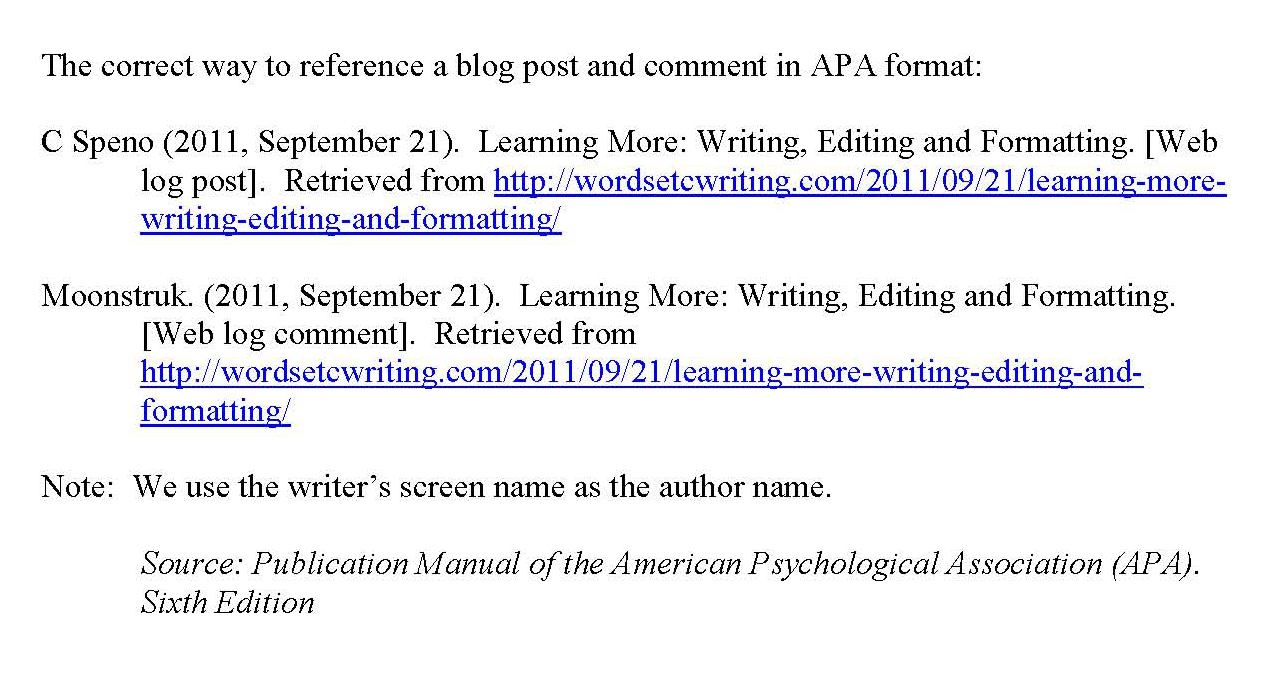 how to write a website in apa format American psychological association rules for formatting papers, in-text citations, and end references examples based on the sixth edition of the publication manual from the apa by alexis carlson how to correctly format your references at the end of your apa style paper.